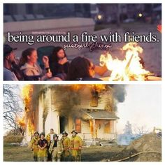 Firefighter:this is how a lot of my brother's pictures are!!!  It's like, ummmm, excuse me, but there's a house on fire behind you!!!