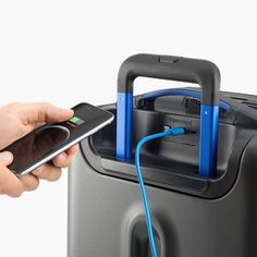 Description The Bluesmart Carry-On Suitcase is a revolutionary piece of carry-on luggage designed to solve all the problems of modern travel. It is lightweight, sturdy, and spacious, with a front compartment specially designed to hold, protect, and provide super easy access to your laptop and tablet, and a large main compartment for everything else. Here's where the technology comes in, Bluesmart lets you control your suitcase using the free app on your smartphone. From the app, you can lock…