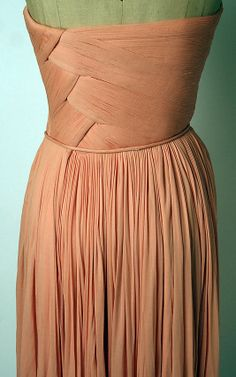 Evening dress Madame Grès (Alix Barton) (French, Paris 1903–1993 Var region) Date: 1963 Culture: French Medium: silk