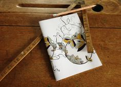 Flutterby Design Lined Notebook -- Day Dream Hedgerows £5.00