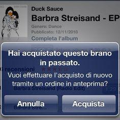 iTunes messaggio chiarissimo