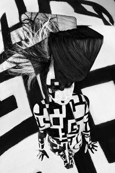 Suzy Johnston + Associates   Benjamin Von Wong #vonwong #geometry #beauty #hairstyle #bodypaint