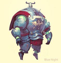 Blue Knight by gongsang81