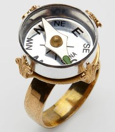 Mini Compass Ring my son would just go ape over this