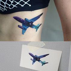 Tattoo Artist: Sasha Unisex - Moscow www.tatteo.com #planetattoo #watercolortattoo #sashaunisex #spacetattoo #vbiproteam