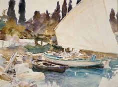 Boats- John Singer Sargent, watercolor
