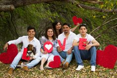 Sesión de San Valentin de una Familia que me encanta, trasmiten felicidad, unión y mucho amor :)
