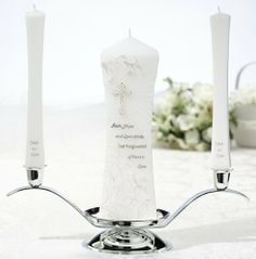 Lillian Rose Christian Unity Pillar and Tapers Candle Set, http://www.amazon.com/dp/B0078SAJGC/ref=cm_sw_r_pi_awdm_wHLCtb09Y1PQY