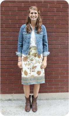 Dish Towel Skirt Tutorial - Peek-a-Boo Pattern Shop: The Blog