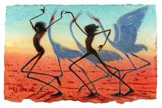 Original painting by Judy Prosser for sale Origami Bird, Aboriginal Art, Crane, Pet Birds, Dancing, Original Paintings, Sculptures, Arts And Crafts, Sketches