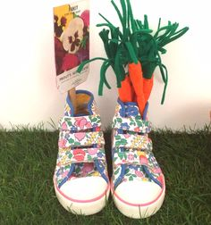 Sweet floral print trainers at Mini Boden for spring 2015 kids footwear