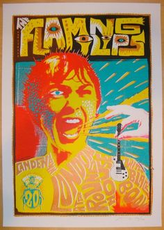 2013 The Flaming Lips - London I Concert Poster by Adam Pobiak