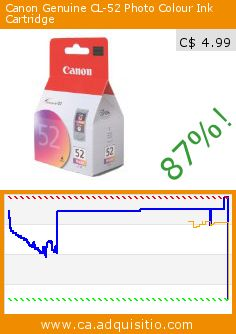 Canon Genuine CL-52 Photo Colour Ink Cartridge (Office Product). Drop 87%! Current price C$ 4.99, the previous price was C$ 38.99. http://www.ca.adquisitio.com/canon-canada/canon-cl-52-photo-ink