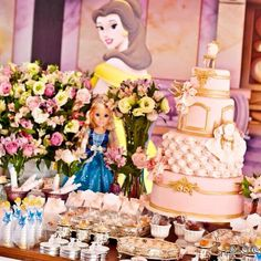 Uma tarde no castelo.. Festa de aniversário infantil das princesas