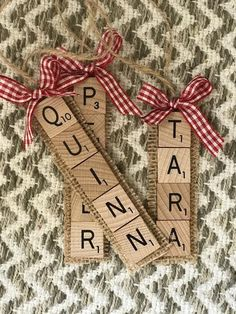 Custom Scrabble Name Ornament, Scrabble Ornament, Wedding Favors, Name Ornament, Creative Christmas DIY Christmas 🎄 Christmas Gifts Christmas Decorations Christmas Ornaments 🎄 Creative Christmas Gifts, Handmade Christmas Gifts, Diy Christmas Ornaments, Christmas Fun, Holiday Crafts, Homemade Ornaments, Letter Ornaments, Thoughtful Christmas Gifts, Christmas Gift From Baby