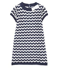 Hartstrings 2T-6X Chevron Sweater Dress