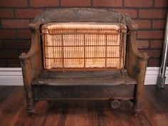 Antique Gas Radiant Parlor Or Fireplace Insert Heater