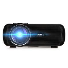 iRULU Mini 3D Home Cinema Theater  LED Projector 1080P FHD HDMI AV USB VGA PC SD…