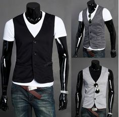 Modern Three Button Mens Vest - Apostolic Clothing