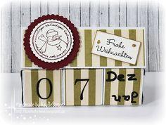 KayBeScraps: Weihnachtlicher Kalenderwürfel..