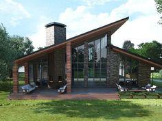 Villa Design, Roof Design, Exterior Design, Mountain Home Exterior, Modern Mountain Home, Mountain Homes, Modern House Plans, Modern House Design, Futuristic Architecture