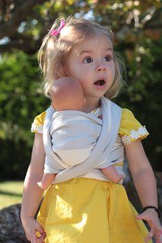 baby wearing goes teensy. Precious Children, Beautiful Children, Beautiful Babies, Little People, Little Ones, Little Girls, Cute Kids, Cute Babies, Baby Kids