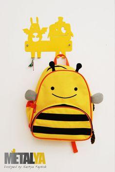 Monsters nursery hooks, coat hooks, kids nursery hooks, yellow nursery decor- FREE SHIPPING