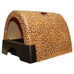 Kitty A Go Go Designer Cat Litter Box - Leopard Print - 10108