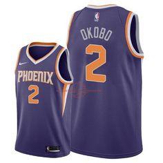 7e32057d4 Achat Maillot NBA Nike Phoenix Suns NO.2 Elie Okobo Pourpre Icon 2018 pas  cher