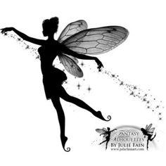 ' Pixie Dust Tattoo ' by Julie Fain Fairy Silhouette, Silhouette Tattoos, New Tattoos, Cool Tattoos, Tatoos, Pixie Tattoo, Fairy Drawings, Fairy Tattoo Designs, Fairy Dust