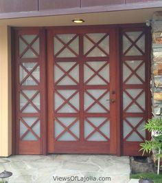 """Wooden  Glass  """"X"""" front door"""