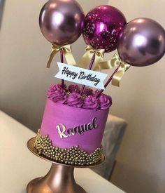 Birthday Cake Roses, Beautiful Birthday Cakes, Gorgeous Cakes, Pretty Cakes, Cute Cakes, Brithday Cake, Balloon Cake, Cake Boss, Drip Cakes