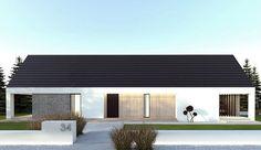 Projekt domu parterowego A-22 o pow. 102,99 m2 z dachem dwuspadowym, z tarasem, sprawdź!