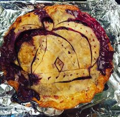 Whiskey for dessert! This is a cherry blueberry vanilla bourbon pie complete with the Crown Royal emblem.  Stay tuned for the results... #crownroyal #crown #bourbon #whiskey #whiskeygirl #earlythanksgiving # homemade #pie #homemadepie #cherrypie #whiskeyforbreakfast #whiskeyfordessert #whiskeybentandhellbound #family #granny