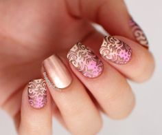 I like nails that are all the same except for one, like the ring finger.