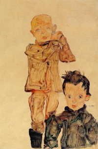 エゴン・シーレ 「二人の男の子」 1910