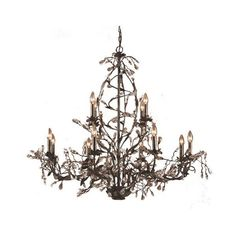 Elk Lighting 8055/8+4 Crystal 12 Light Up Lighting Chandelier from the ($1,250) ❤ liked on Polyvore featuring home, lighting, ceiling lights, chandeliers, deep rust, indoor lighting, crystal chandelier lamp, branch lights, branch chandelier and crystal chandelier lighting