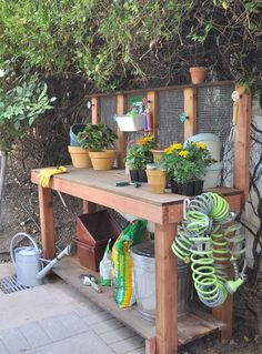 We've wanted a potting bench in our yard for years and finally got around to building one last weekend. With space permitting, potting benches are a useful tool in your backyard that makes gardening a pleasant chore! Tuck a potting bench under an eave, inside a shed, or build them freestanding and you have convenient [...]