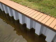 Kush Marine/Seawall Paint can be applied to seawalls, steel dunnage, hand rails, and so much more! It is made from high quality soy alkyd and solvents that are used on the topside of boats and seawalls. This paint is rust preventative and a must have! Lake Landscaping, Natural Landscaping, Landscaping Ideas, Lakefront Property, River House, Rustic Design, Landscape Design, Outdoor Living, Boathouse