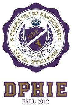 My sorority sister made this . Delta Phi Epsilon . DPhiE . Unicorn . Sorority . Srat . Frat . Greek . Purple . Gold . Love .