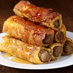 Sausage French Toast Roll-up Recipe by Tasty