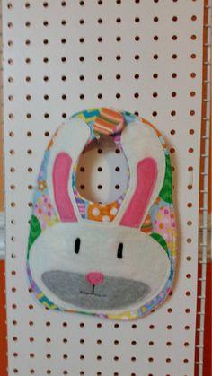 Easter Bunny Bib by MamawandPapawCreatio on Etsy