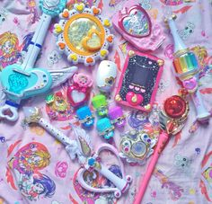 luigipony: always good to have a magical girl arsenal of weapons in your bedroom~~ Doki Doki Anime, Pastel Punk, Glitter Force, Cute Toys, Pretty Cure, Indie Kids, Toys For Girls, Magical Girl, Pink Aesthetic