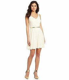 Gianni Bini Julie ALine Dress #Dillards would wear with my chain necklace backwards