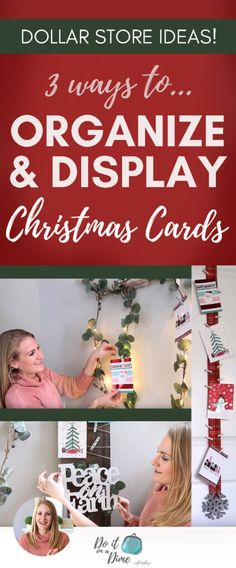 decor decor nail bathroom videos n Christmas Decor Diy Cheap, Christmas Card Display, Christmas On A Budget, Christmas Diy, Christmas Cards, Christmas Decorations, Woodland Party, Holiday Cocktails, Organizer