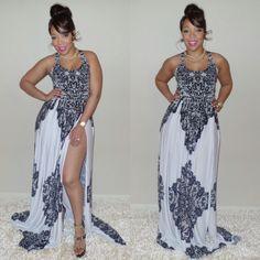 Joni Marie Ross--Felicity Maxi Dress--Plus Sizes