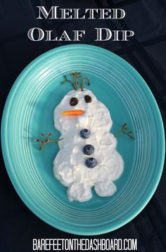 Melted Olaf Dip for a Frozen Birthday Party