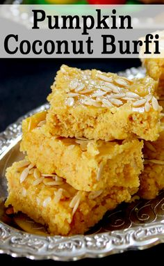 Burfi is an Indian fudge. So, this is a sweet treat which is made with ...