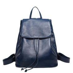 c73400acb7bf BOYATU Mochila Genuine Leather Feminine Backpack Female Rucksack Sac A Dos  Vintage Bagpack Simple Shoulder Bag Women Daypack