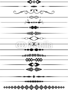 Fancy Page Dividers   Decorative page divider set   Stock Vector ...